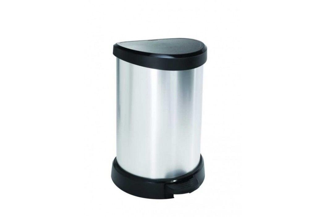 CURVER - Odpadkový kôš Decobin s pedálom, 20 l - strieborný