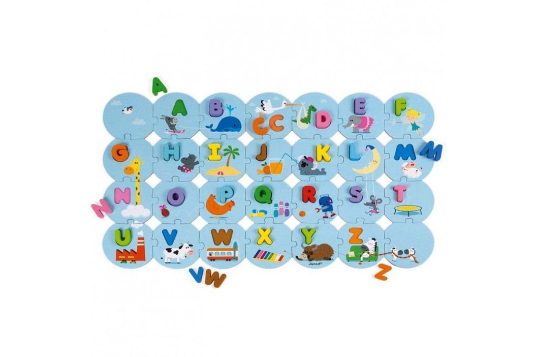 JANOD - J02705 Drevené Puzzle I learn Abeceda anglická