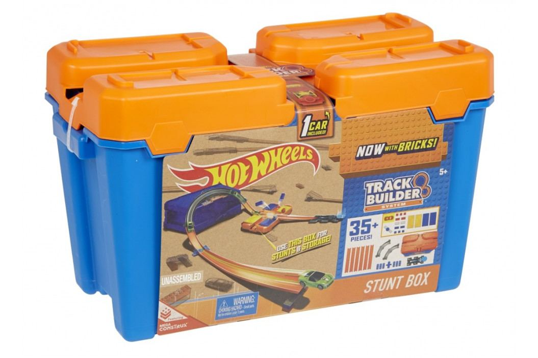 MATTEL - Hot Hot Wheelseels Track Builder V Kufríku Mix