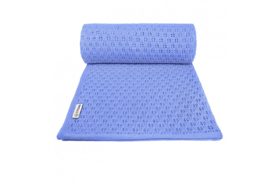 T-TOMI - Pletená detská deka summer, blue