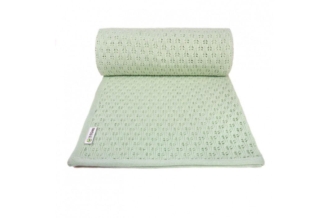 T-TOMI - Pletená detská deka summer, mint