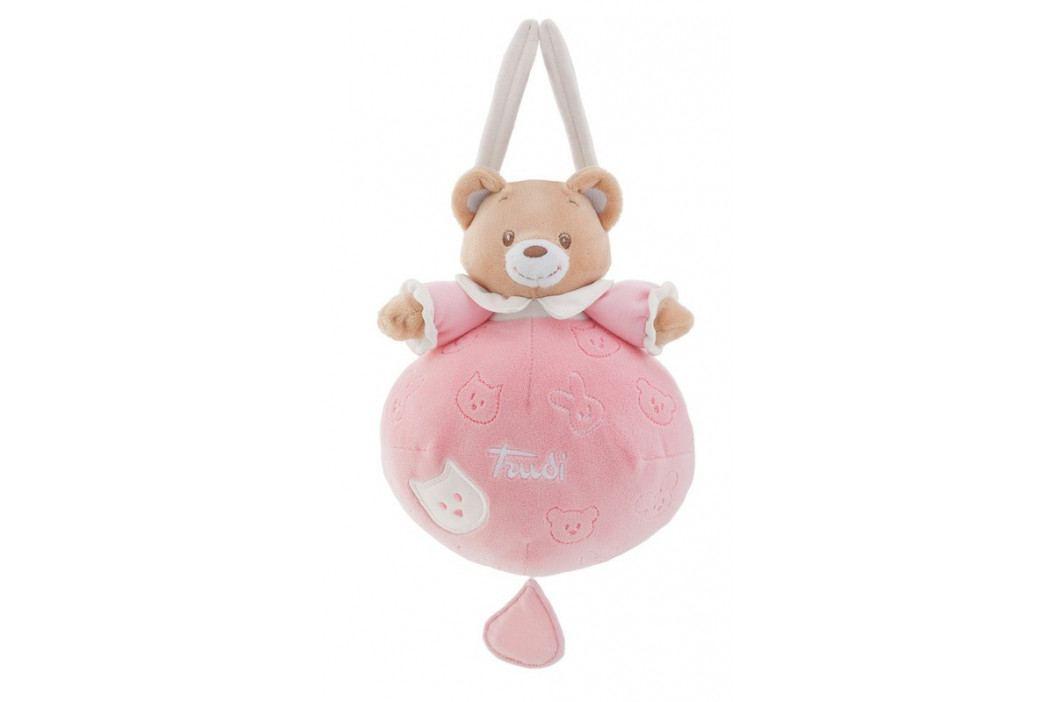 TRUDI - Závesná  hračka s melódiou - Macko - ružový