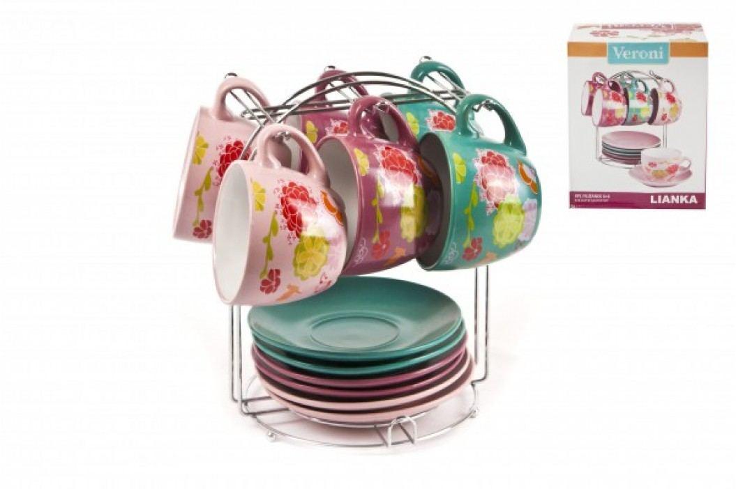 VERONI - Sada pohárov na vešiaku s tanierikmi - Lianka