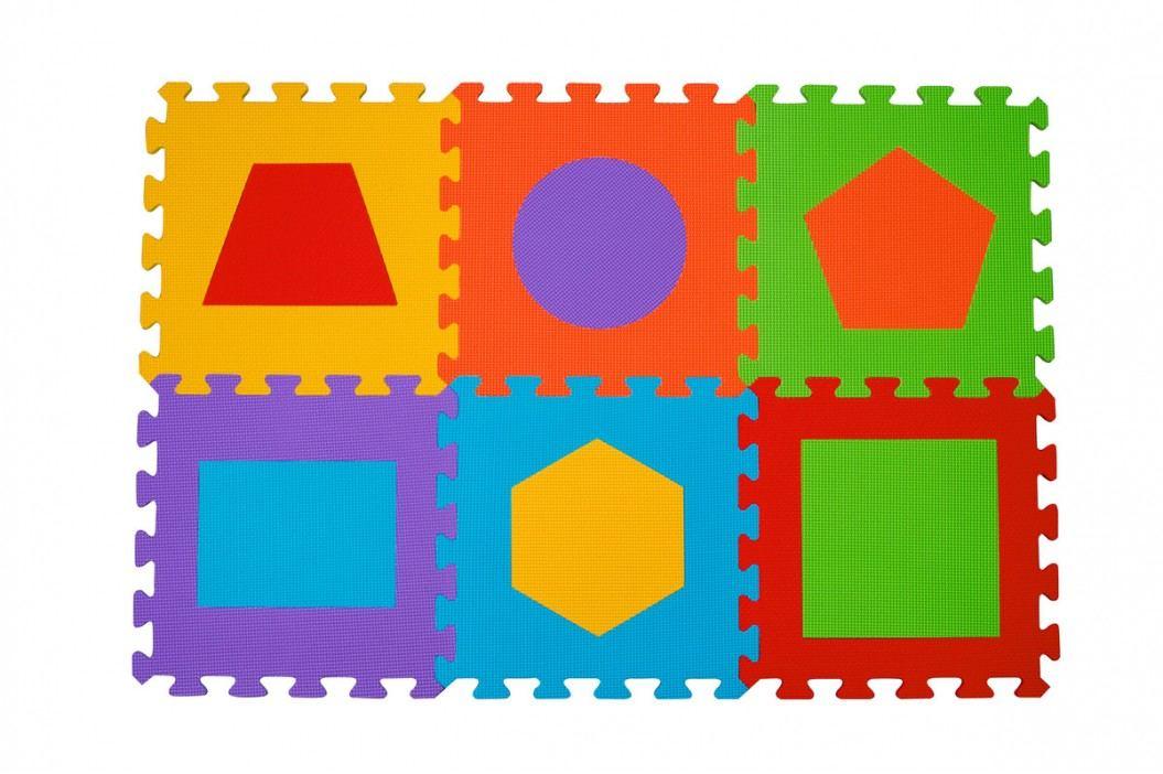 BABYONO - Puzzle penové písmená 6ks, 6m+