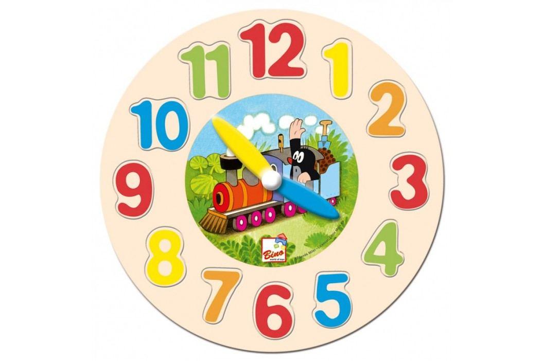 Bino - 13751 Hodiny-puzzle Krtko