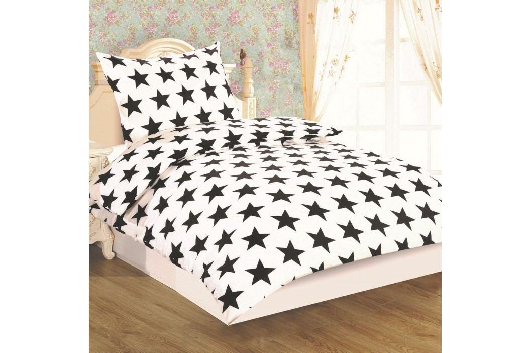 JAHU Obliečky Dallas Hviezda micro satén, 140 x 200 cm, 70 x 90 cm