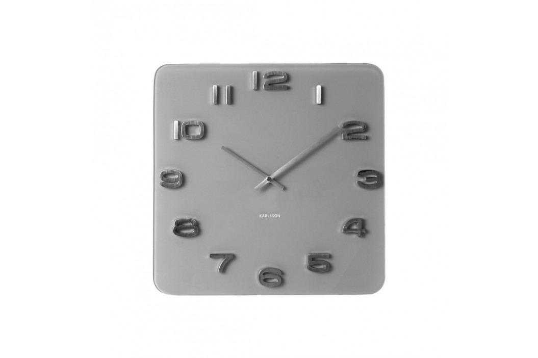 Karlsson 5488GY Designové nástenné hodiny, 35 cm