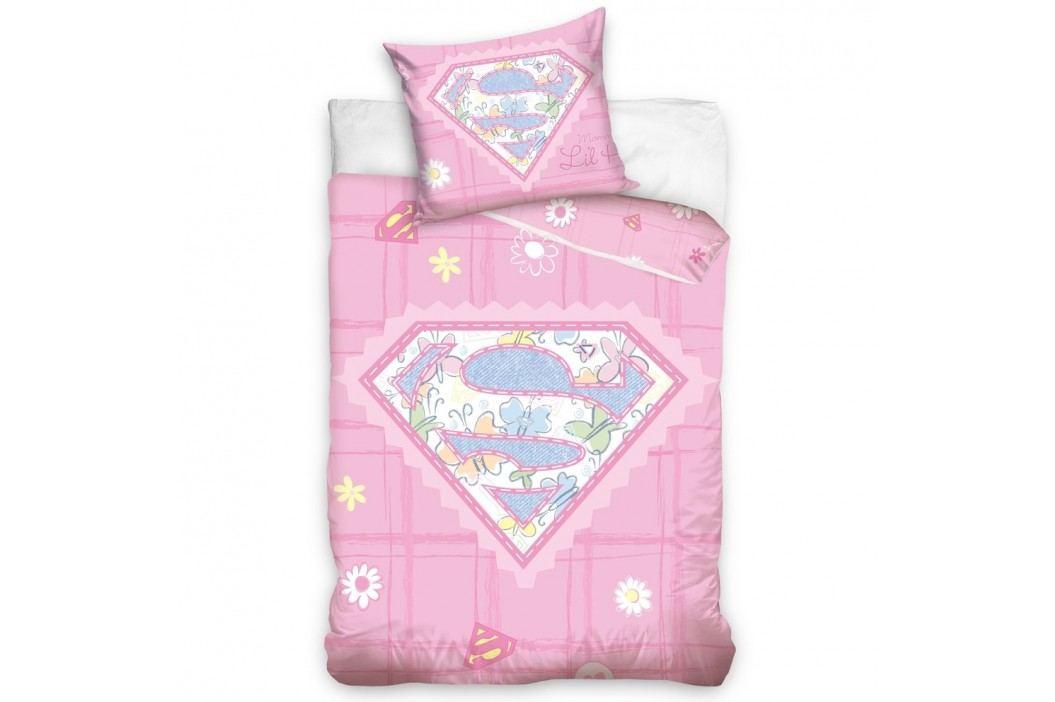 Carbotex Obliečky do postieľky Little Supergirl 100x135 40x60