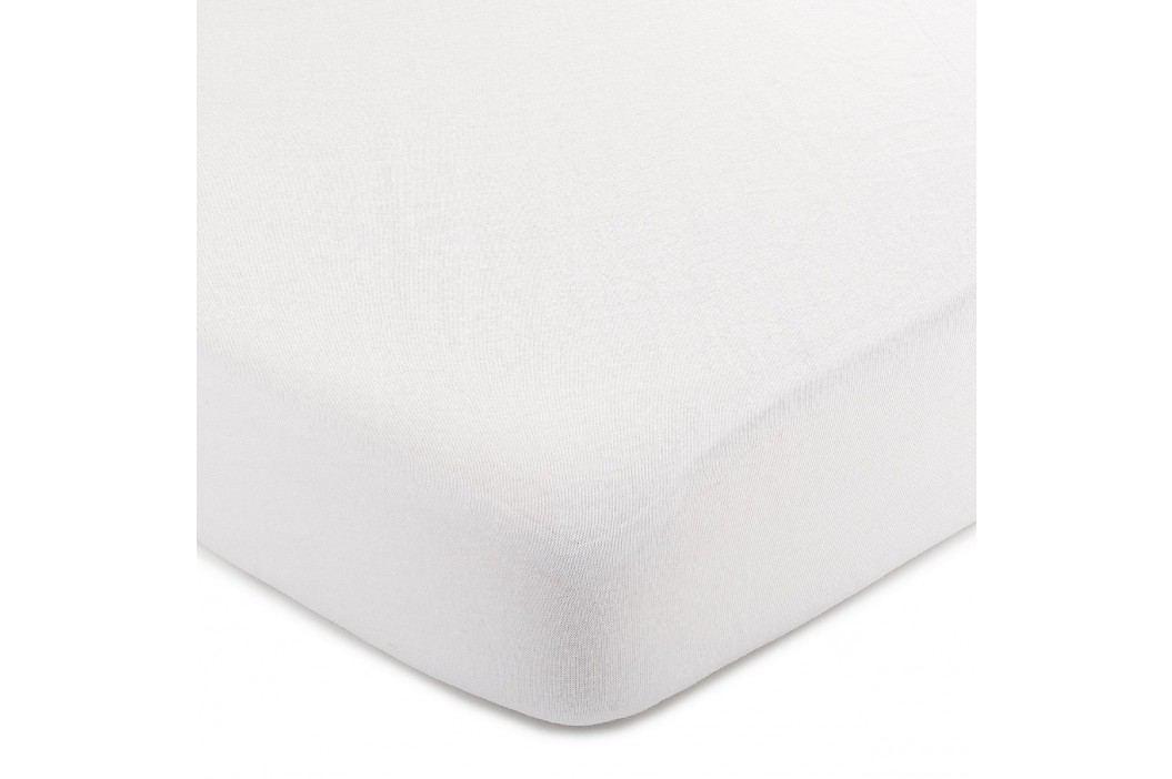 jersey prestieradlo biela, 220 x 200 cm