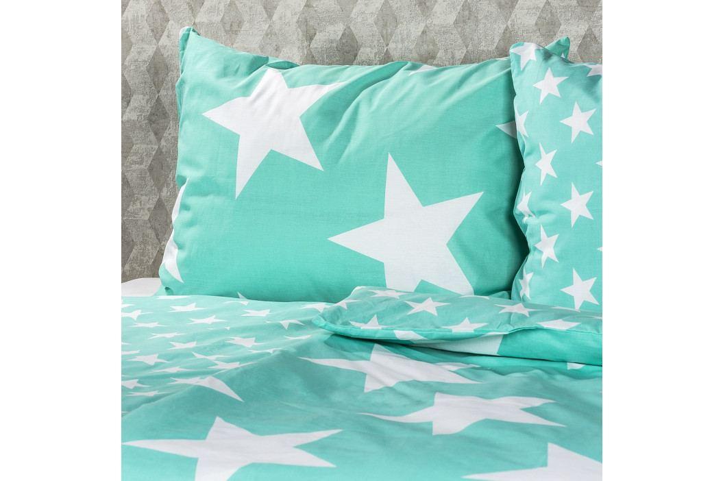 JAHU Bavlnené obliečky New Stars mint, 140 x 200 cm, 70 x 90 cm