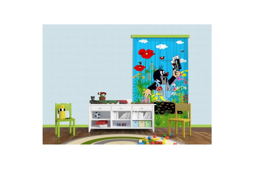 AG ART Detský zatemňovací záves Krtko a zrkadielko, 140 x 245 cm