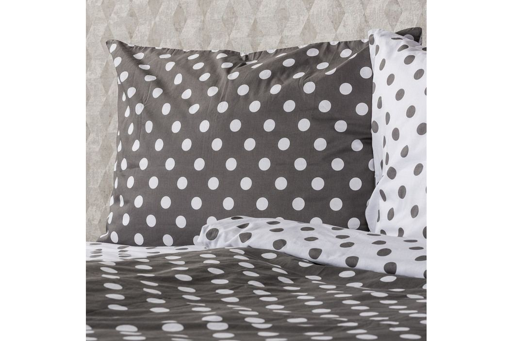 4Home Bavlnené obliečky Sivá bodka, 160 x 200 cm, 70 x 80 cm, 160 x 200 cm, 70 x 80 cm