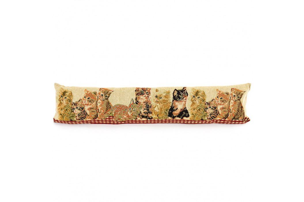 BO-MA Trading Ozdobný tesniaci vankúš do okien Mačičky, 90 x 20 cm