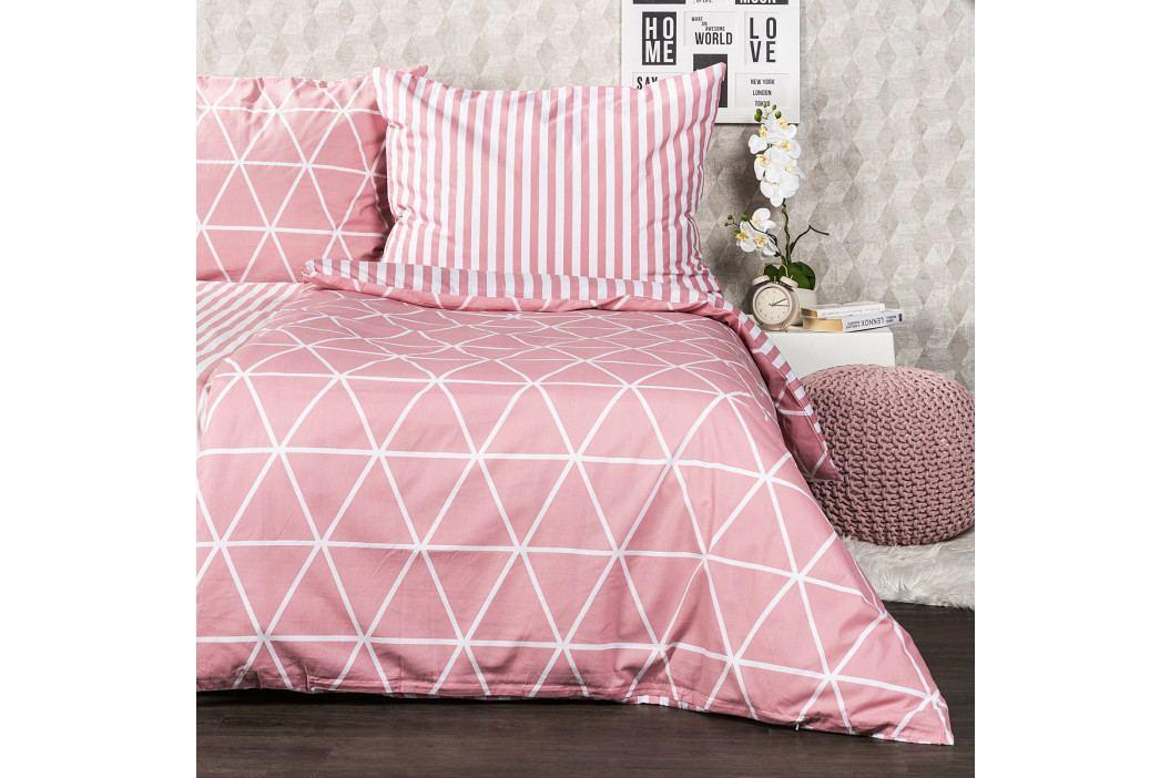 4Home Bavlnené obliečky Galaxy ružová, 140 x 220 cm, 70 x 90 cm