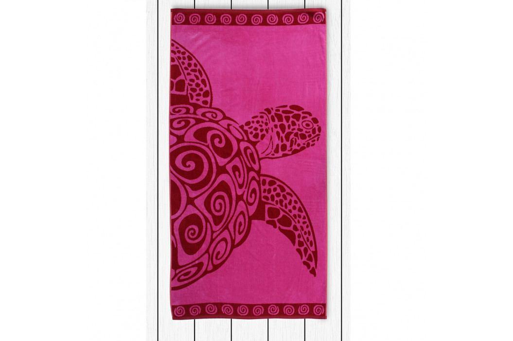 DecoKing Plážová osuška Pink Turtle, 90 x 180 cm