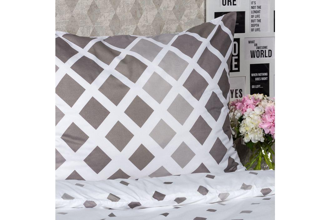 4Home Obliečky Geometric sivá micro, 220 x 200 cm, 2 ks 70 x 90 cm
