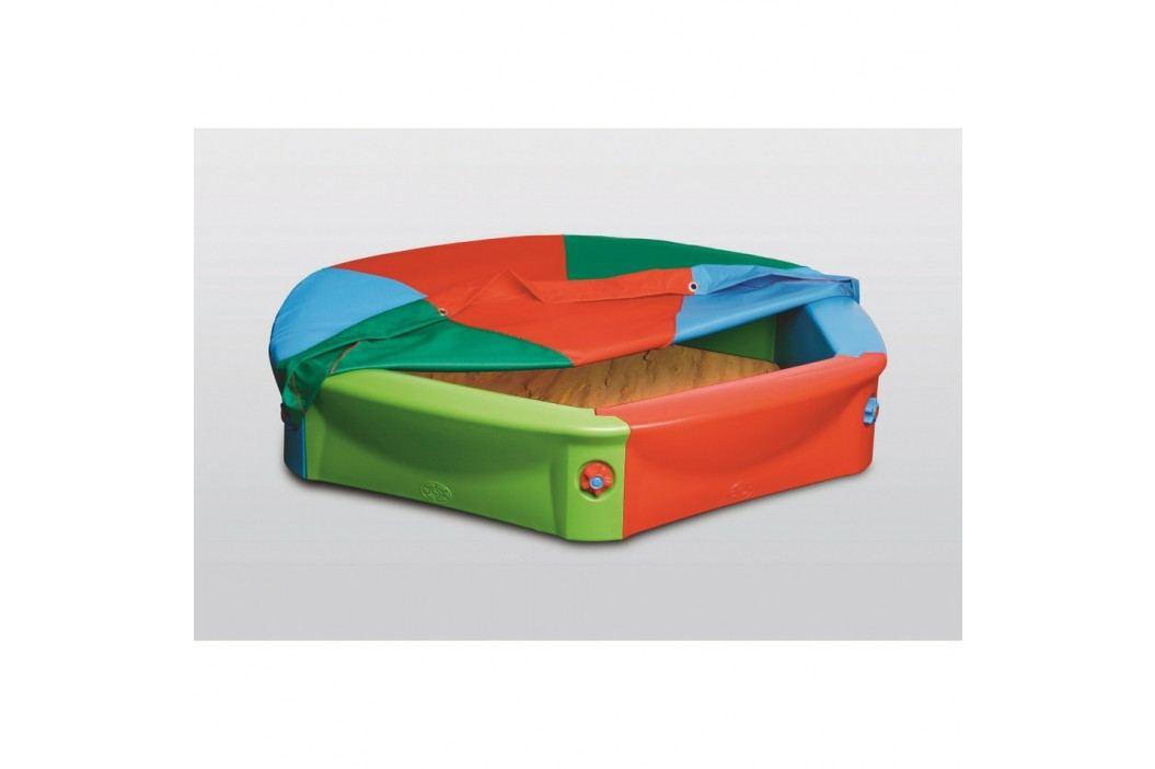 Detské plastové pieskovisko s plachtou, pr. 120 cm