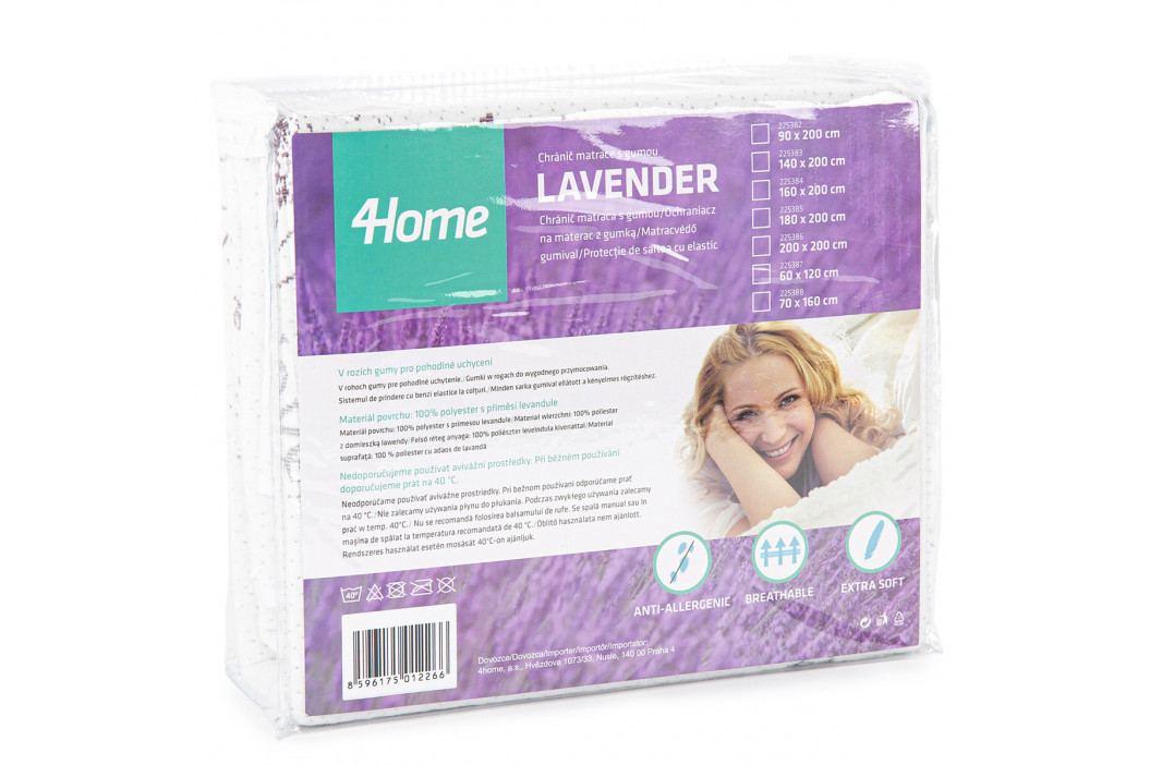 4Home Lavender Chránič matraca s gumou, 200 x 200 cm