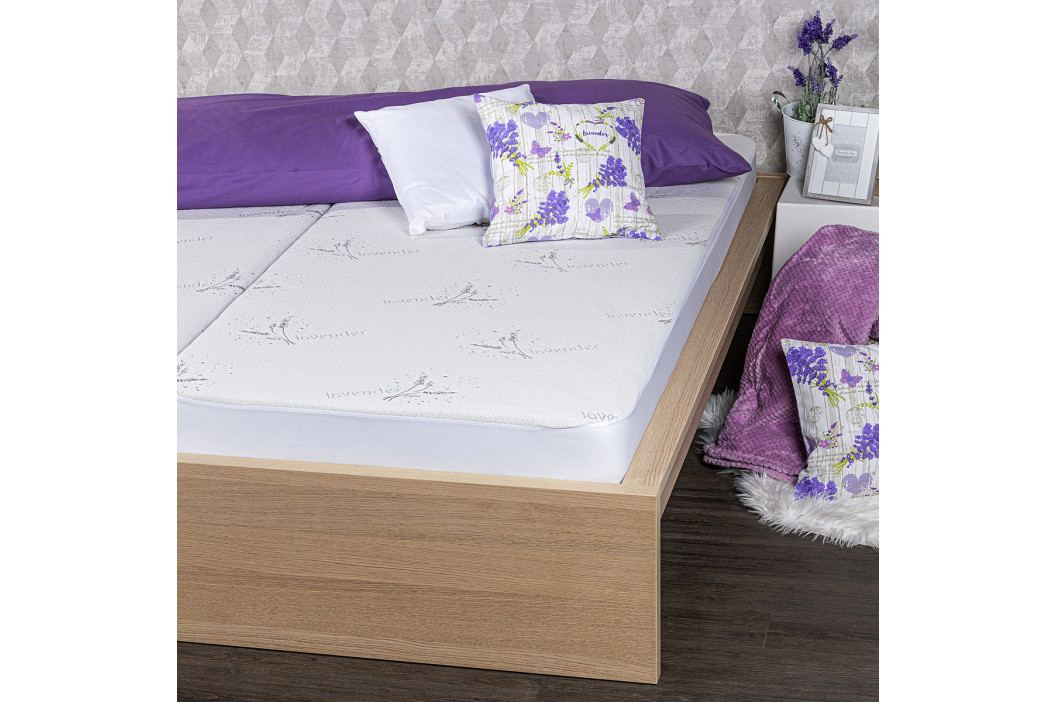 4home Lavender Nepriepustný chránič matraca s lemom, 200 x 200 cm