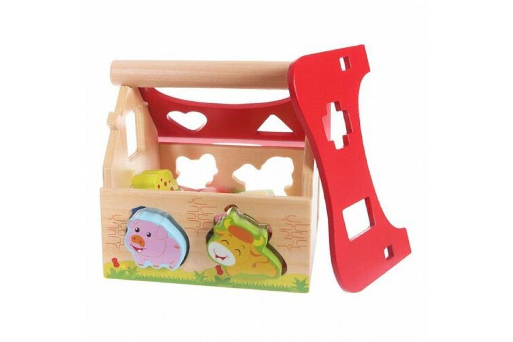 Eco Toys Drevený Domček Vkladací Farma So Zvieratkami