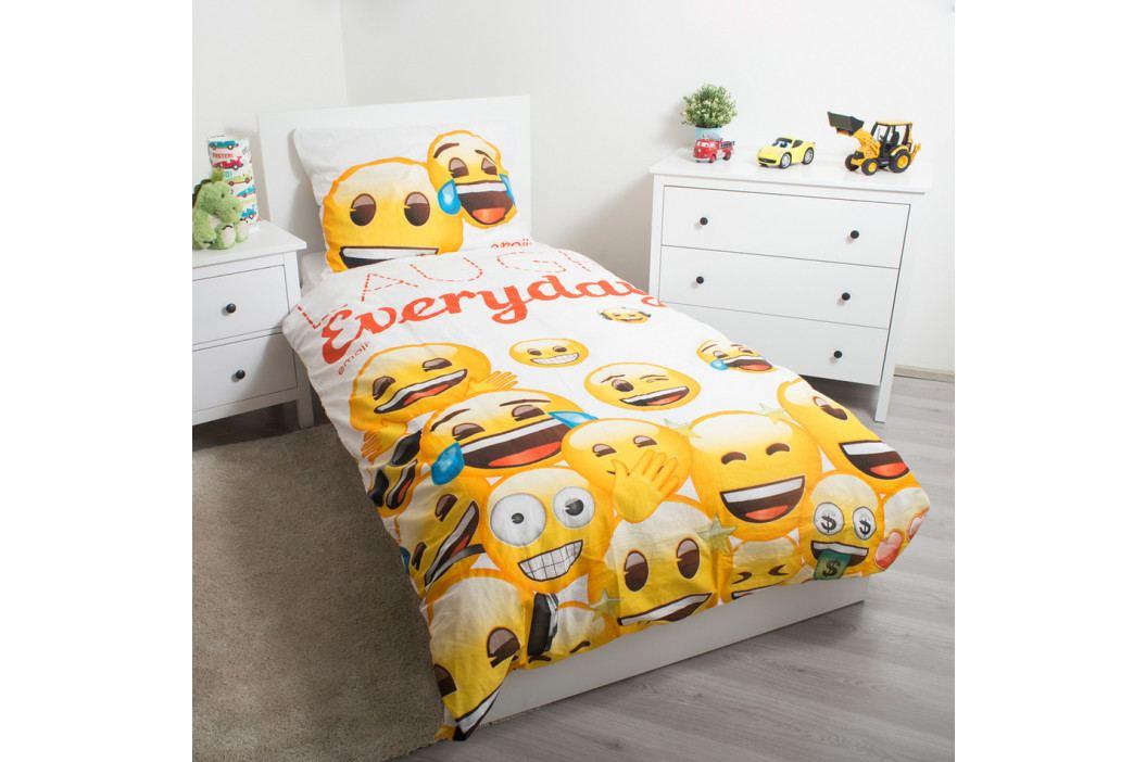 Jerry Fabrics Detské bavlnené obliečky Emoji 213, 140 x 200 cm, 70 x 90 cm