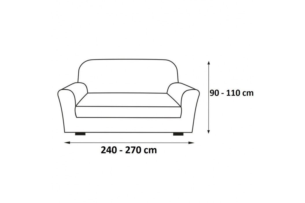 Forbyt Multielastický poťah na sedaciu súpravu Petra svetlohnedá