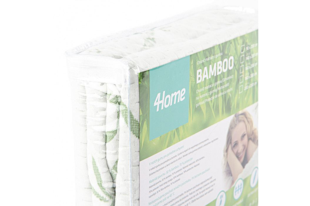 4Home Bamboo Chránič matraca s gumou, 90 x 200 cm