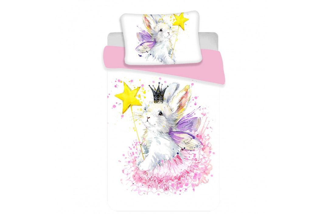 Jerry Fabrics Detské bavlnené obliečky do postieľky Bunny baby, 100 x 135 cm, 40 x 60 cm
