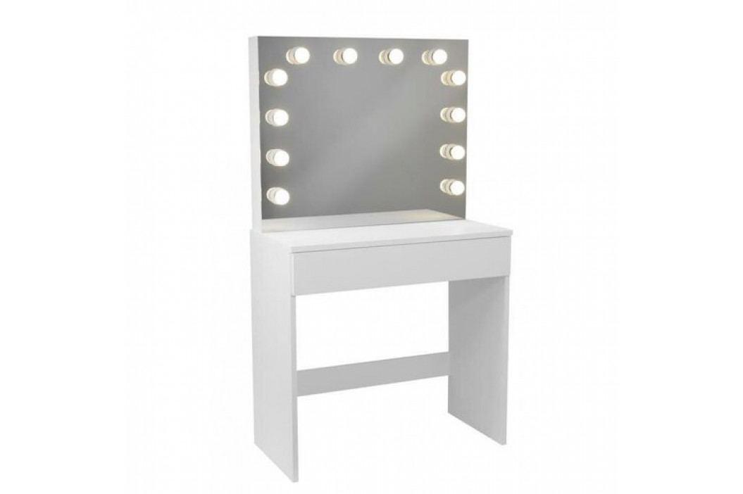 Kozmetický stolík so zrkadlom Gabina, 140 x 40 x 80 cm