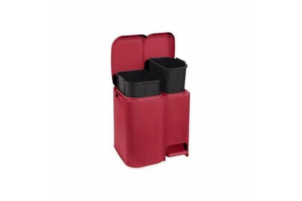 Tontarelli Kôš na triedený odpad DUO 13 + 8 l, červená