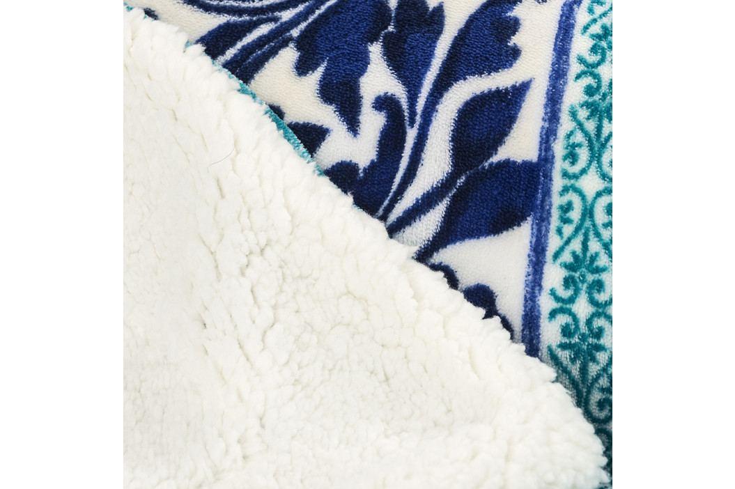 4Home Baránková deka Flowers modrá, 150 x 200 cm