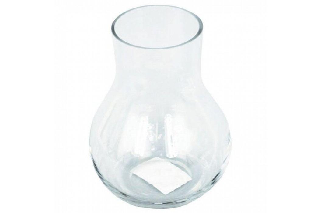 Sklenená váza Ricey číra, 15 cm