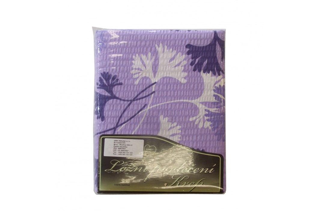 Obliečky krep fialovobiele listy