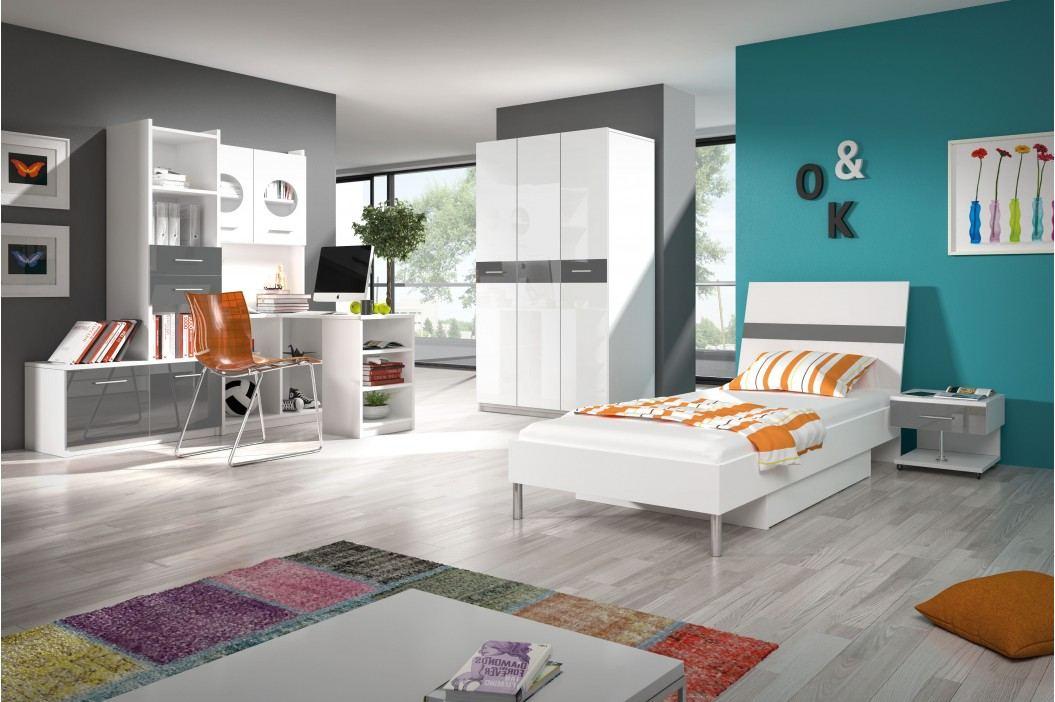 Študentská izba Ruby I (biela + sivá)