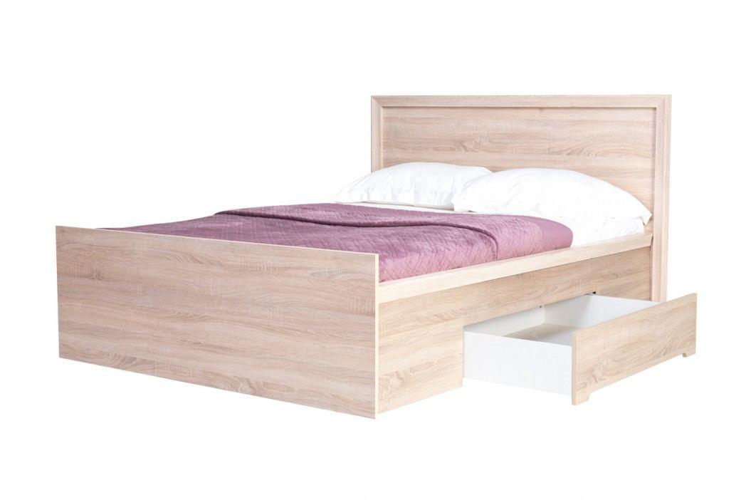 Manželská posteľ 160 cm Fintona F21 (s roštom a úl. priestorom)
