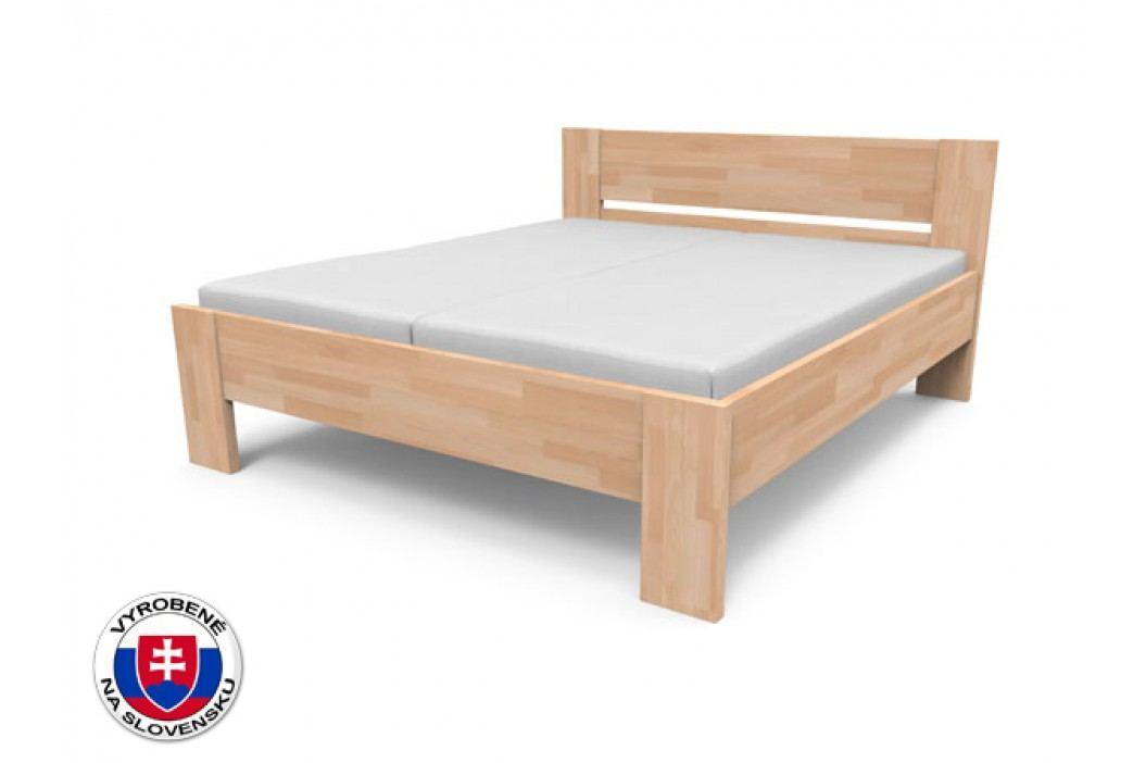 Manželská posteľ 200 cm Nikoleta plné čelo (masív)