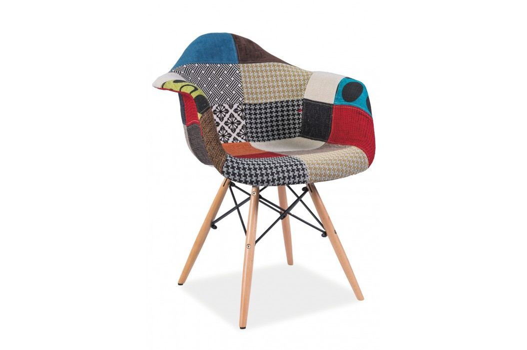 Jedálenská stolička Denis (patchwork viacfarebný)