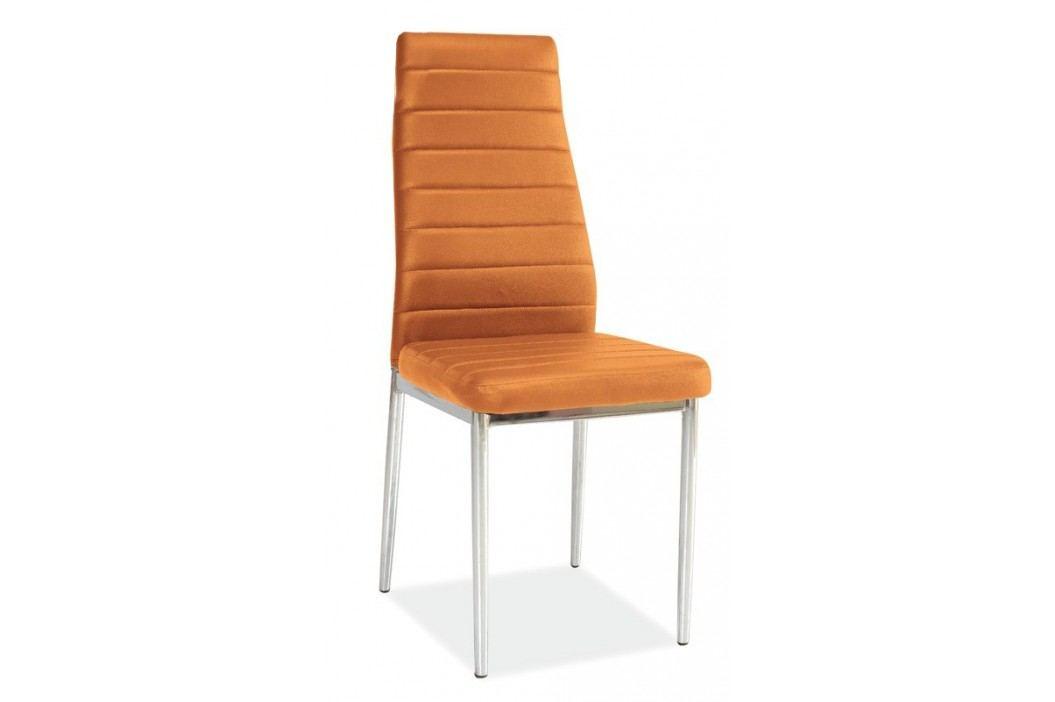 Jedálenská stolička h-261 oranžová MOB-4157