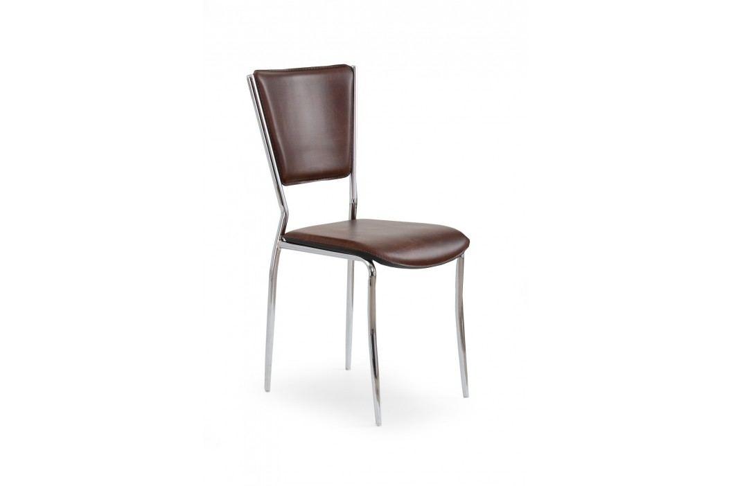 Jedálenská stolička K72C tmavohnedá