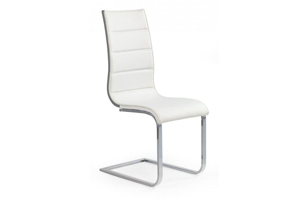 Jedálenská stolička K104 biela + šedá
