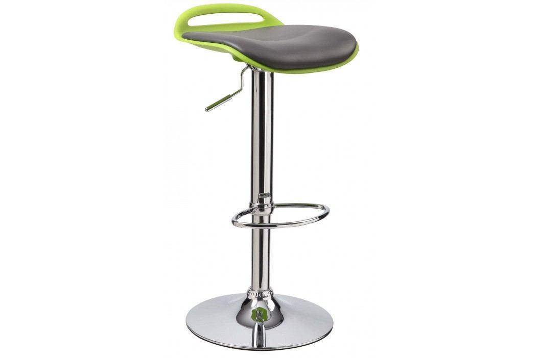 Barová stolička H-60 (čierna + zelená)