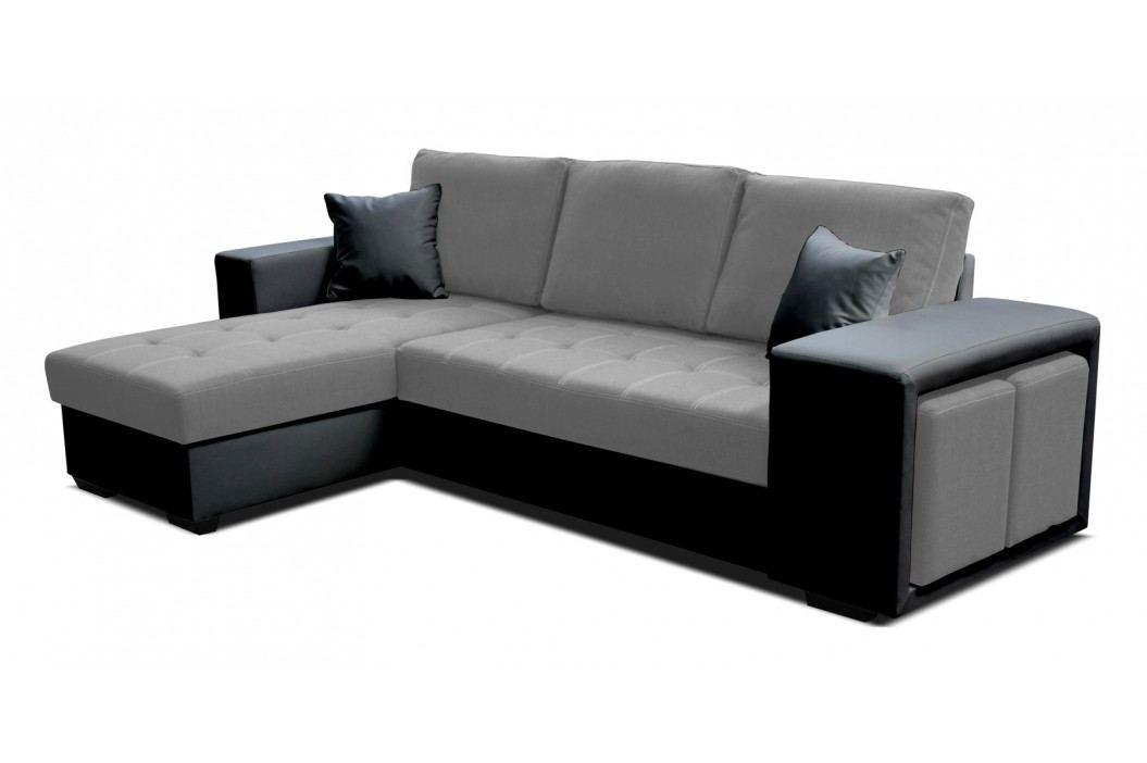 Rohová sedačka Thema Lux L+2F (I91 sivá + B110 čierna) (L)