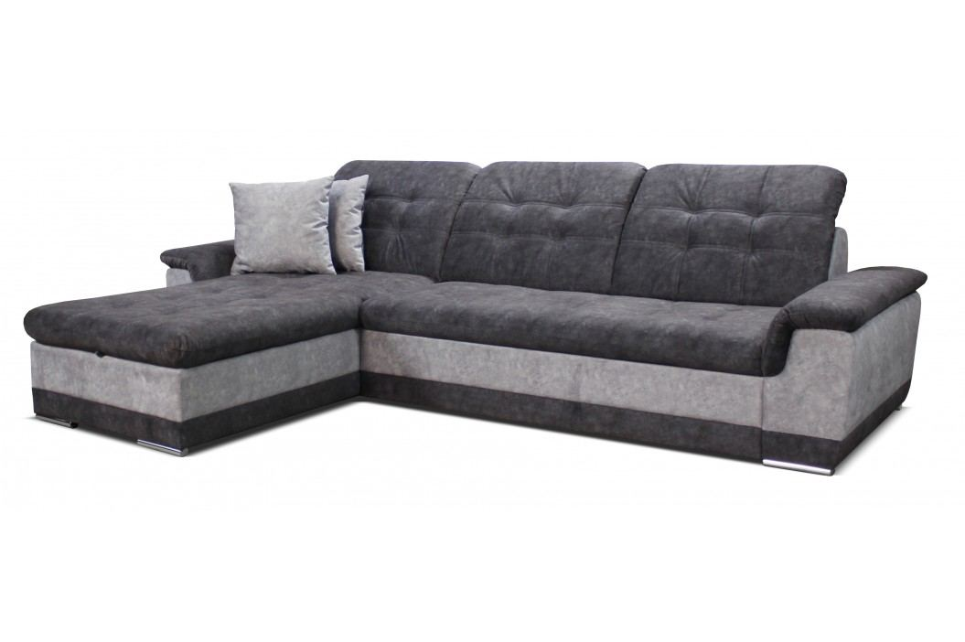 Rohová sedačka Batti L+2F (sivá + svetlosivá) (L)