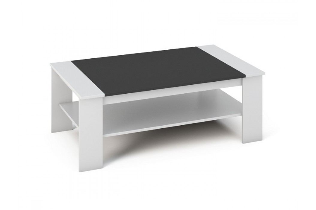 Konferenčný stolík Baker (biela + čierna)