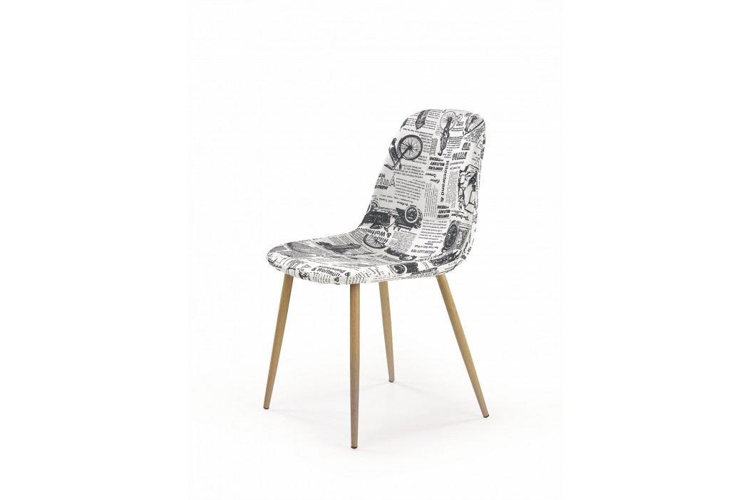 Jedálenská stolička K220 (viacfarebné + dub medový)