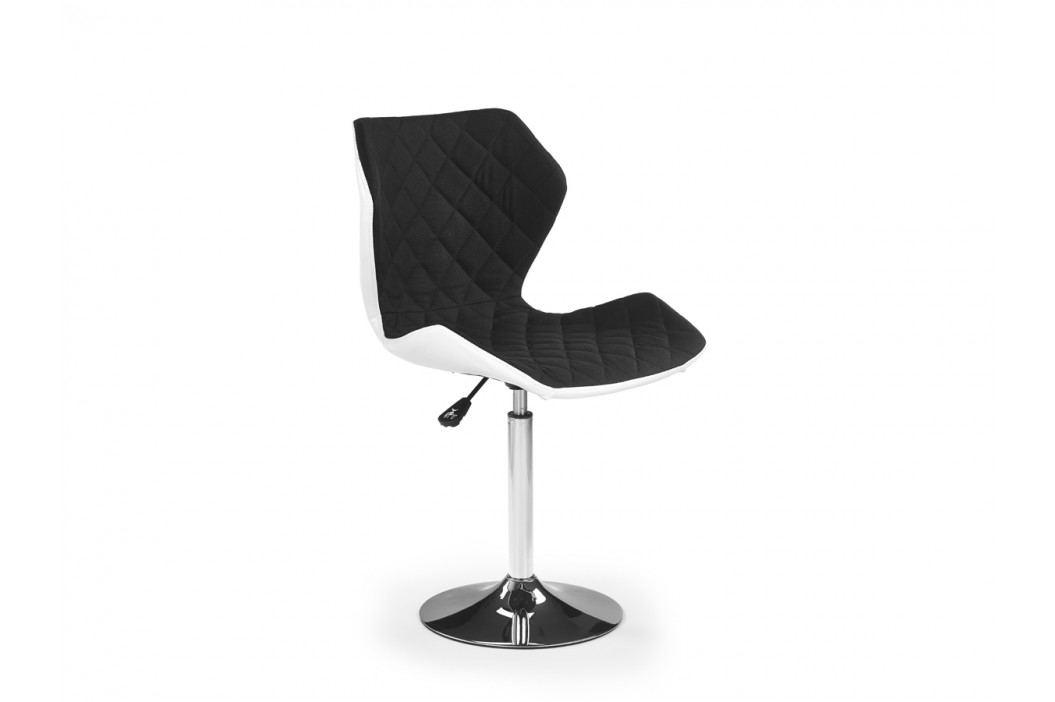 Barová stolička Matrix 2 (čierna + biela)
