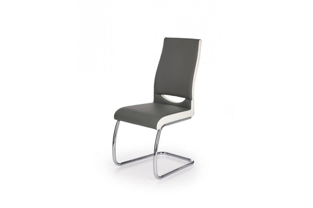 Jedálenská stolička K259 (sivá + biela)
