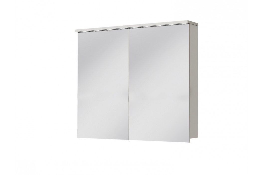 Kúpeľňová skrinka na stenu Juventa Monza MnMC-90 W (so zrkadlom) (s osvetlením)