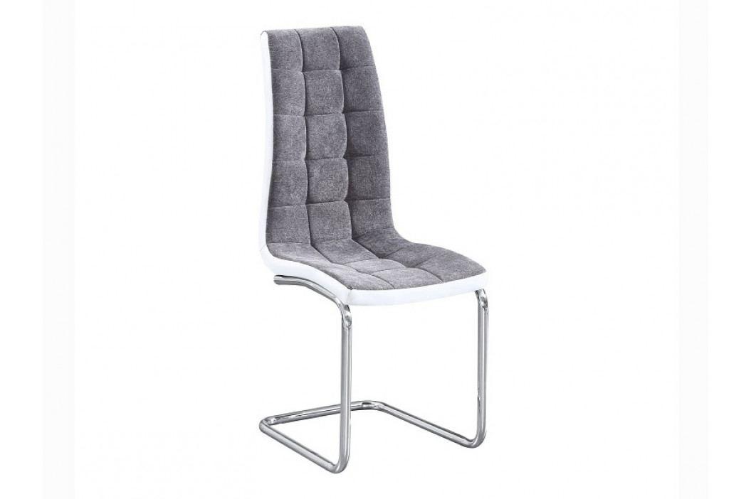 Jedálenská stolička Saloma new (tmavosivá + biela)