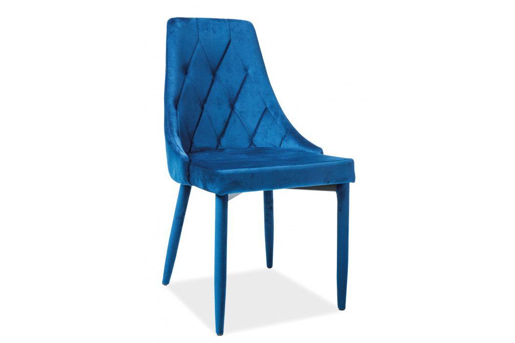 Jedálenská stolička Trix Velvet (modrá)